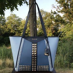 Michael Kors Whitney Studded Leather Tote Bag